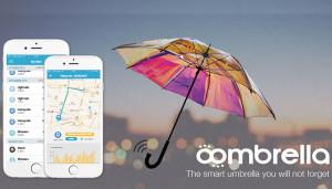 Умный зонт Oombrella способен предупреждать о непогоде