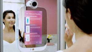 Умное зеркало HiMirror анализирует состояние кожи
